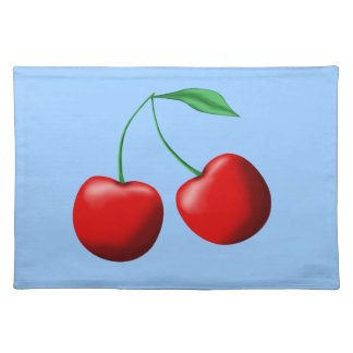 Sweet Cherries Cloth Placemat