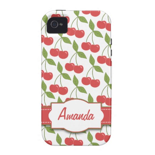Sweet Cherries iPhone 4 Case-Mate Tough™