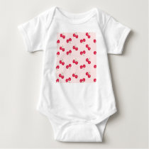 Sweet Cherries Unique Pattern Baby Bodysuit