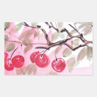 Sweet Cherries Watercolor Art Stickers