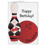 Sweet Cherry Argyle Bowling Design Cards