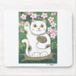 Sweet Cherry Blossom Neko Mousepad
