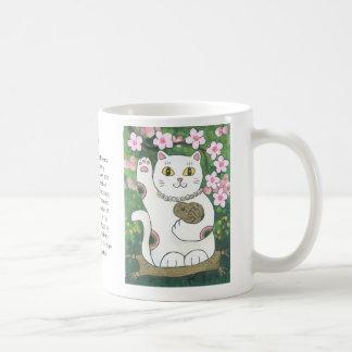 Sweet Cherry Blossom Neko Classic White Coffee Mug