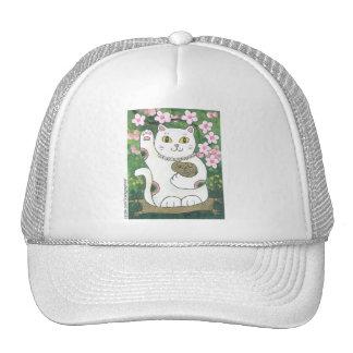 Sweet Cherry Blossom Neko Trucker Hat