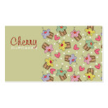 Sweet Cherry Cupcakes Bakery Dessert Profile Card Business Cards