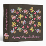 Sweet Cherry Cupcakes Confectionery Bakery Cute Binders