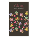 Sweet Cherry Cupcakes Confectionery Bakery Cute Double-Sided Standard Business Cards (Pack Of 100)