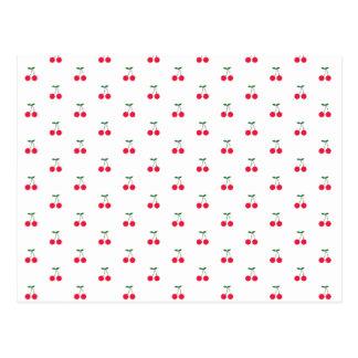 Sweet Cherry Pattern Postcard