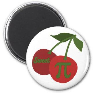Sweet Cherry Pi 2 Inch Round Magnet