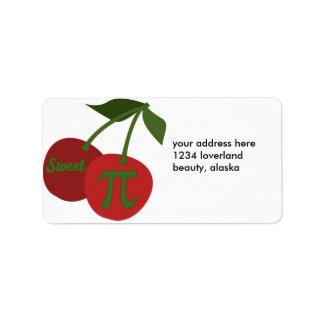 Sweet Cherry Pi Address Label