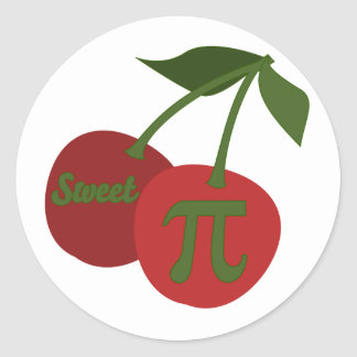 Sweet Cherry Pi Classic Round Sticker
