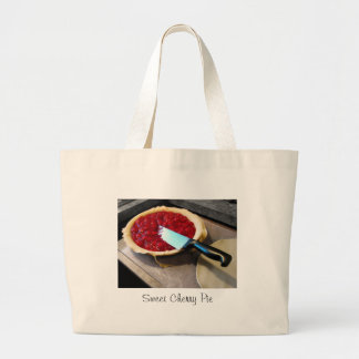 Sweet Cherry Pie Large Tote Bag