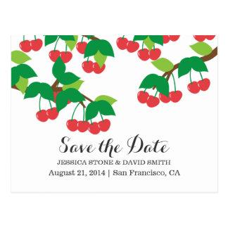 Sweet Cherry Tree Wedding Save the Date Postcard