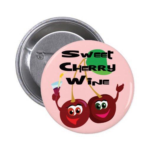 Sweet Cherry Wine 2 Inch Round Button