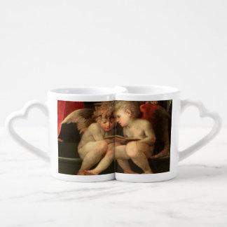 Sweet Cherubs Vintage Art Mug Set Couples' Coffee Mug Set