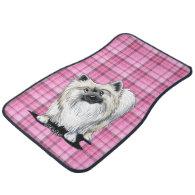 Sweet Chester Pink Plaid Car Mats Floor Mat
