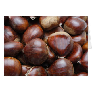 Sweet chestnuts card