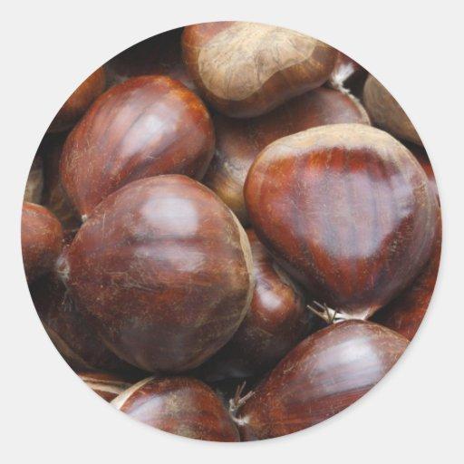 Sweet chestnuts classic round sticker