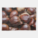 Sweet chestnuts hand towel