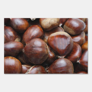 Sweet chestnuts lawn sign