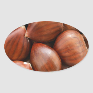 Sweet chestnuts oval sticker