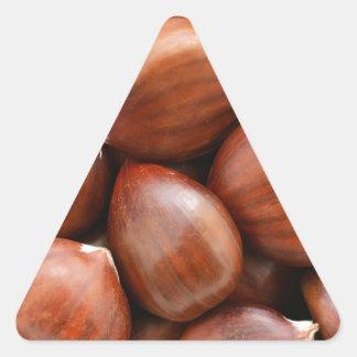 Sweet chestnuts triangle sticker
