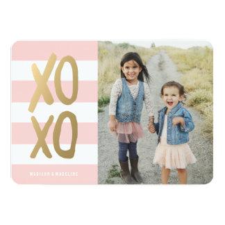 "Sweet & Chic | Valentine's Day Photo Card 5"" X 7"" Invitation Card"