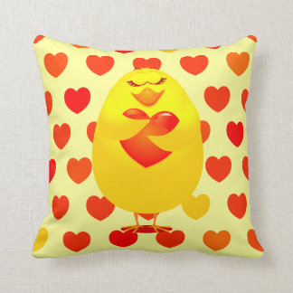Sweet chick in love, pillow
