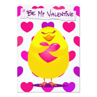 Sweet chick in love with message, invitation