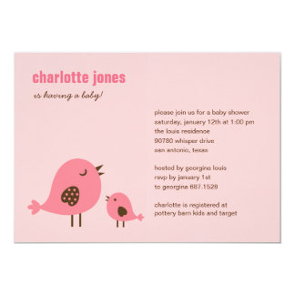 Sweet Chicks Baby Shower Invitation - Pink