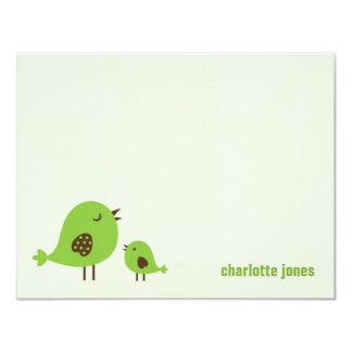 Sweet Chicks Thank You Cards - Green
