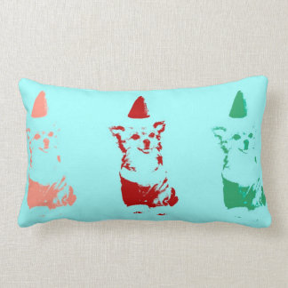 Sweet Chihuahua in Santa Claus costume Pillow