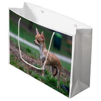 Sweet Chihuahua Puppy Gundog Wannabe Large Gift Bag