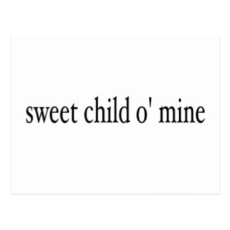 Sweet Child O Mine Post Card