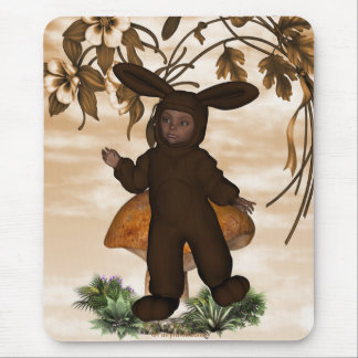 Sweet chocolate baby boy bunny 1 mouse pad