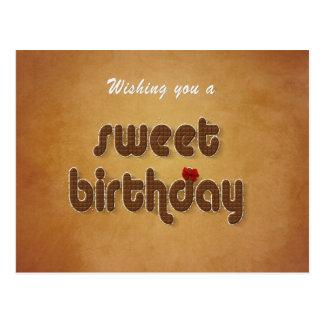 Sweet Chocolate Birthday Wish - Postcard