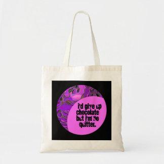 sweet chocolate humor tote bag