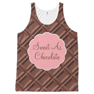 Sweet Chocolate Lover All-Over Print Tank Top