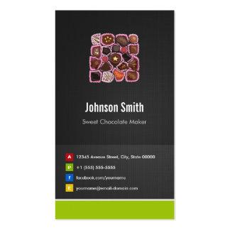 Sweet Chocolate Maker - Creative Innovative Business Card Template