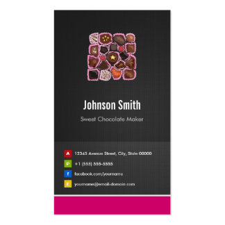 Sweet Chocolate Maker - Creative Innovative Business Card Templates