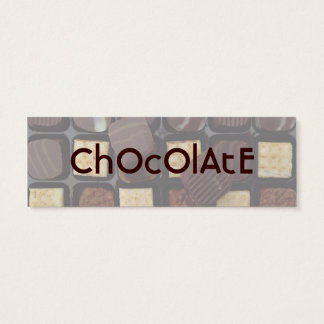 sweet chocolate mini business card
