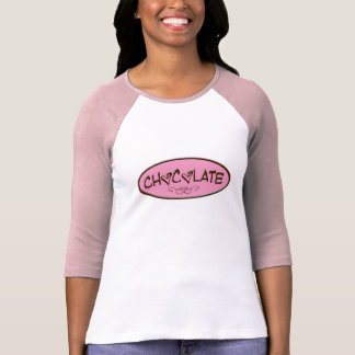 Sweet Chocolate Pink and Melting Badge Design Tees