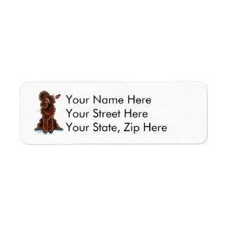 Sweet Chocolate Poodle Valentines Label