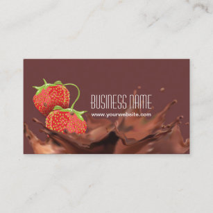 Chocolate business cards templates zazzle sweet chocolate strawberries business card colourmoves