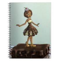 """ Sweet Chocolate Sundae Zenobia"" Notebook"