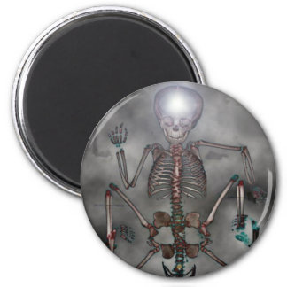 Sweet Chops Skeleton 2 Inch Round Magnet