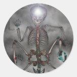 Sweet Chops Skeleton Round Stickers