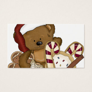 Sweet Christmas Bear Business Card