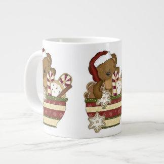 Sweet Christmas Bear Giant Coffee Mug