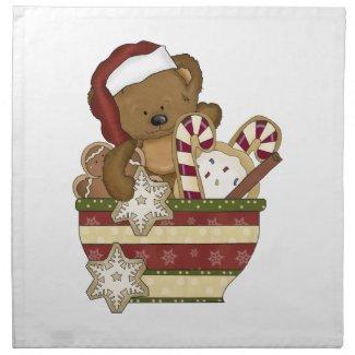 Christmas Holiday Linen Napkins
